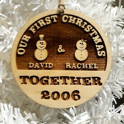 Unique Couple Christmas Ornament Personalized Owl Ball Funny Hand
