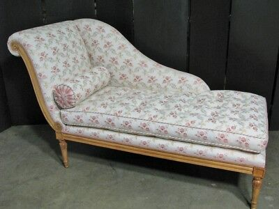 Schumacher Custom French Louis XVI Style Chaise Long; Light Fruitwood Finish