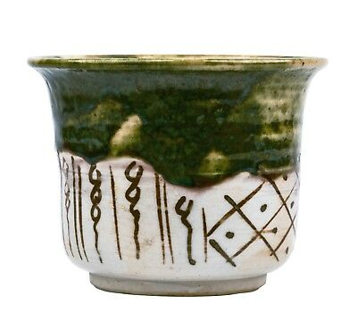 An Antique Japanese Signed Uribe Pottery Bowl