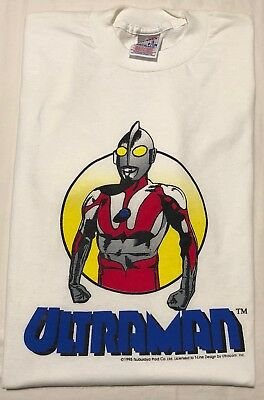 VTG 90s 1995 Ultraman Tsuburaya Productions Godzilla T-Shirt Mens Sz Small RARE