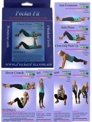 Kettlebell exercise / workout / fitness / training cards