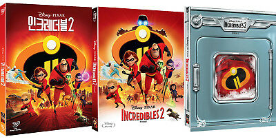 (Pre-order) Incredibles 2 (DVD, Blu-ray 2D, 3D Combo) Slip Case Edition / Pick!