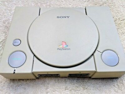 Official Sony PlayStation 1 PS1 fat Console Only for parts or repair SCPH-7501