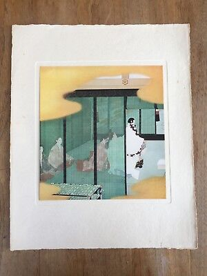 "c.1940's ""THE RITES OF GROWTH"" KITANO TSUNETOMI PAINTING PRINT MEIJI JAPANESE"