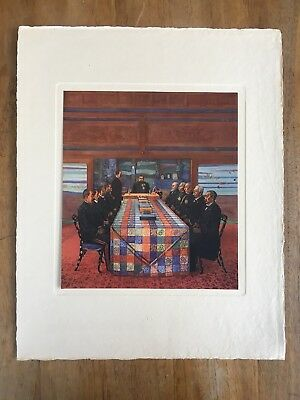 "1940's ""DECLARATION OF WAR WITH RUSSIA"" YOSHIDA SHIGERU PAINTING PRINT MEIJI ART"