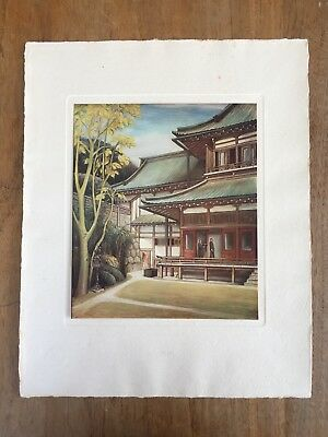 "c.1940s ""THE IMPERIAL RESCRIPT ON EDUCATION"" ATAKA YASUGORÔ PAINTING PRINT MEIJI"