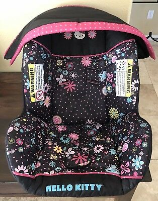 Baby Trend Flex Loc Infant Car Seat Cover Canopy Replacement Part Hello Kitty