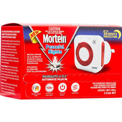 Buy 2 For $36.95 GENUINE Mortein Peaceful Nights Plug In Mozzie Zappers FreePost