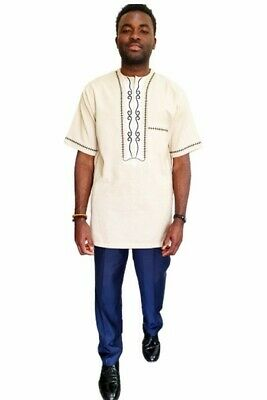 Beautifully made African Embroidery Men's Set, Size XL