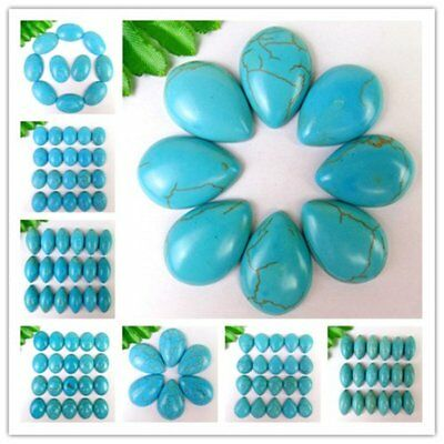 Various Size Blue Turquoise Oval / Marquise / Teardrop Cab Cabochon HH6372