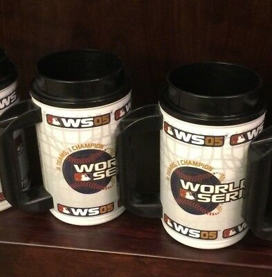 Astros 2005 World Series Insulated Beer Mugs, 1 pint set of 2