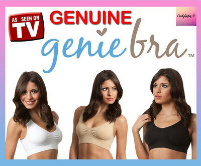 3 pcs GENUINE Genie Bra Seamless Bra Removable Pads S M L XL XXL XXXL Sport