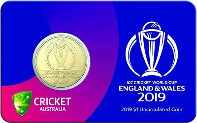 Free Post - Australia 2019 Icc Cricket World Cup Uncirculated $1 Coin On Card