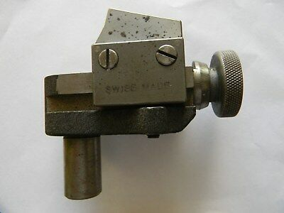 Rare Schaublin 102 Adjustable Steel Holder ~ Swiss Made