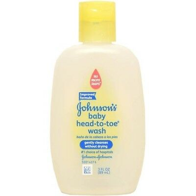 Johnson's Head-To-Toe Baby Wash, Gently Cleanses Without Drying Travel Size 3 Oz