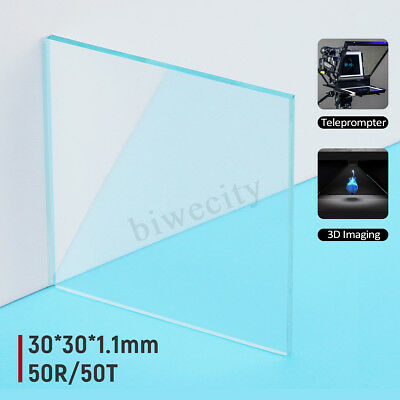 Optical Beam Splitter Plate 30*30*1.1mm 50R/50T 45 Degree Optical Laser Lens