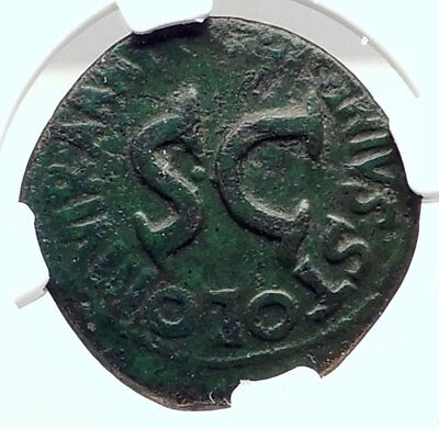 AUGUSTUS Authentic Ancient 17BC Rome Dupondius Roman Coin NGC Certified i73295
