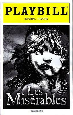LES MISERABLES PLAYBILL BROADWAY APRIL 2015 Ramin Karimloo Will Sweenson