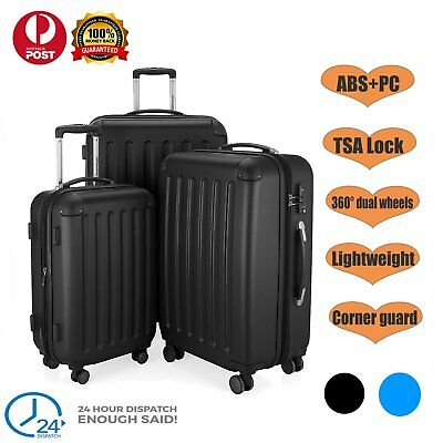 3PCS Luggage Travel Trolley Suitcase Set TSA Lock ABS+PC Hard Case Lightweight