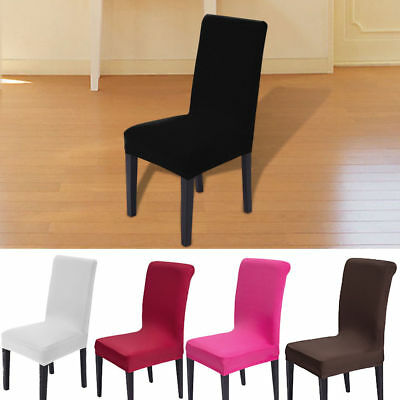 2/4/6pcs Removable Stretch Slipcovers Dining Room Chair Cover Seat Short Stool