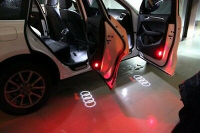 2 LED Door Shadow Light Lamp Courtesy Laser Projector Logo For Audi A4 A6 A8 Q7