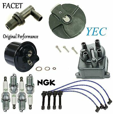 8USAUTO Tune Up Kit Air Oil Fuel Filters Cap Wire Spark Plugs FIT Chevrolet Astro V6 4.3L 1992-1995