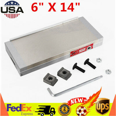 """6"""" X 14"""" Magnetic Chuck Machining Workholding Permanent For Grinding Machine USA"""