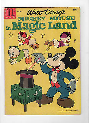 Four Color #819 - Mickey Mouse (Jul 1957, Dell) - Very Good/Fine