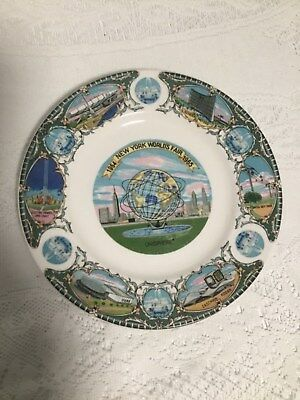 "1964 New York World'S Fair Plate 1965 Collectible Souvenir 7"" Unisphere Vintage"