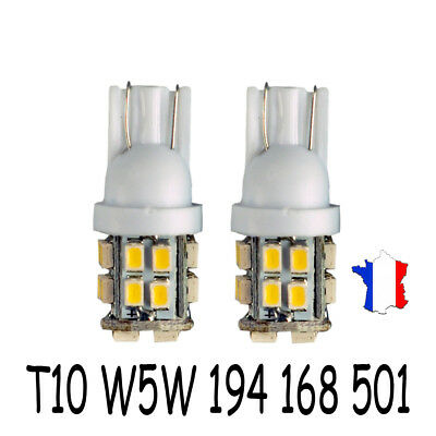 2× Ampoule Plaque T10 Wedge W5W 194 168 501 Blanc 20SMD LED Voiture Lampe Bulbs