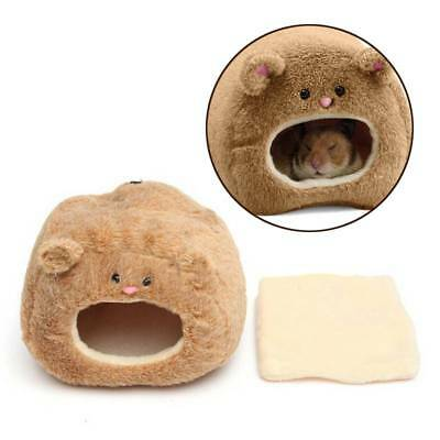 Winter Small Pet Hamster Rabbit House Bed Warm Squirrel Cage Nest Accessory