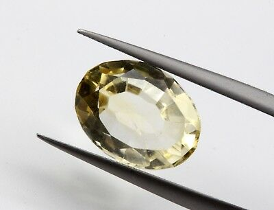 4.02 Ct Natural Brazil Yellow Color Citrine Topaz Loose Oval Cut No Heat Gemston