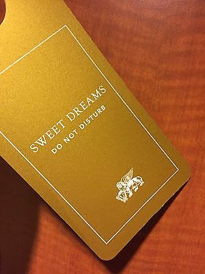 ☀DO NOT DISTURB Sign☀Venetian Palazzo HOTEL CASINO☀VEGAS Gold Sweet Dreams