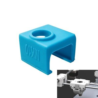 1pc Silicone Sock Cover For MK10 3D Printer Aluminum Heater Block Part C8A7) M6