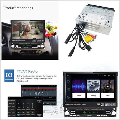 Android 8.1 7'' 1 DIN HD Touch Screen Car Stereo Media Player GPS Wifi 4G BT FM