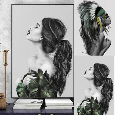 Popular Women Prints Art Poster Indians 30 * 40cm Inkjet Decorating Paintings