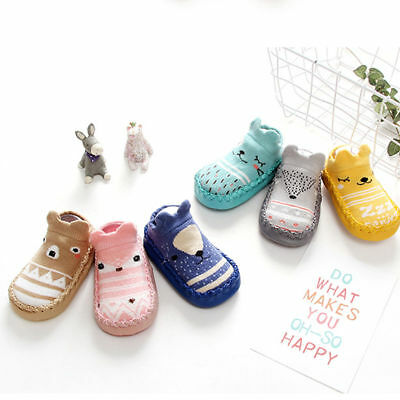 CA Baby Kids Boys Girls Cartoon Anti-slip Socks Warm Floor Soft Slipper Socks