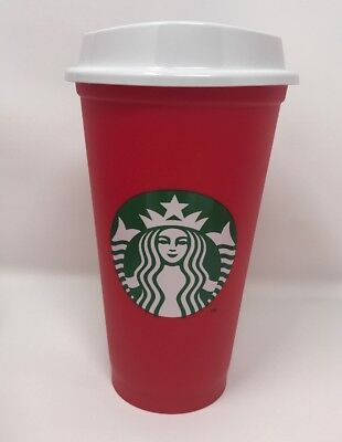 Brand New Starbucks 2018 Holiday Red Cup Reusable New Rare
