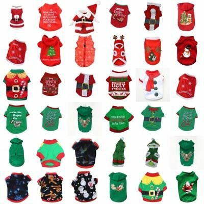 Pet Cute Christmas Sweater Warm Hoodies Puppy Clothes Xmas Costume For Dogs Cats