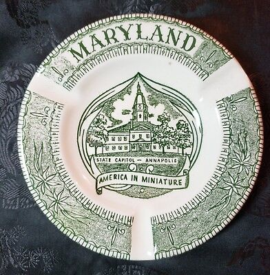 Vintage Maryland Ashtray - design by Vernon Kilns Pottery/China