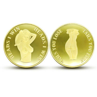 2018 New Sexy Girl Sexy Beauty HEADS TAILS Coin Man gift Collection Souvenirs