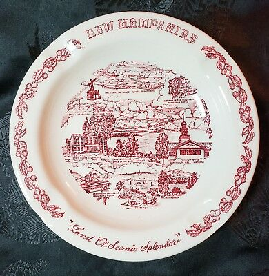 Vintage New Hampshire Ashtray - design by Vernon Kilns Pottery/China