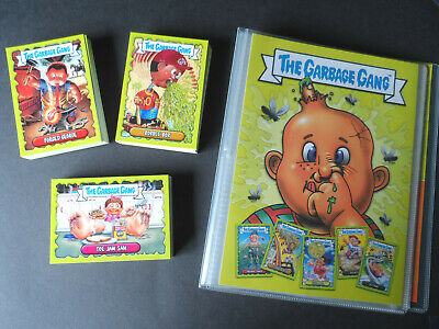 Topps The Garbage Gang/Pail Kids Trading Cards Complete 96 Card Set & Album 2018