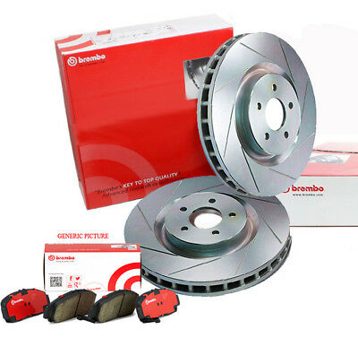 BREMBO 294mm FRONT SLOTTED BRAKE ROTORS x 2 PADS SUBARU WRX 96~03 Forester 01~13