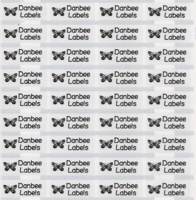 Small Clear Personalised Name Labels, Name Stickers, 22x09mm, Waterproof