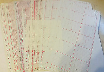 Pc1 Brother Knitting Machine  Mylar 24 Stitch Punchcard Pre Punched Cards X 10