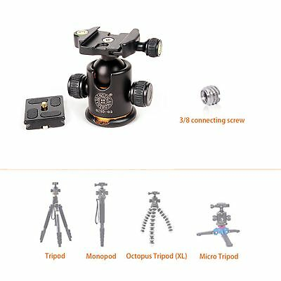 Mini Tripod Ballhead / Panoramic Head with Quick Release Plate For Camera Tripod