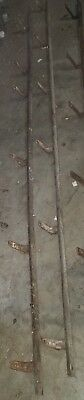 6 Ft. Antique  barn door roller track  use with Louden,F.E. Myers,& More. Patina