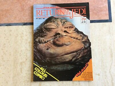 Star Wars  return of the Jedi ,No 7  August 1983,    UK Marvel Comic
