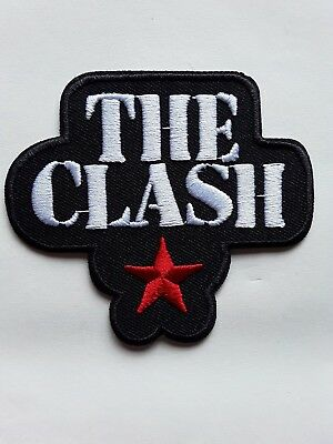 THE CLASH ENGLISH 70s CLASSIC PUNK ROCK RED STAR MUSIC BAND PATCH UK SELLER